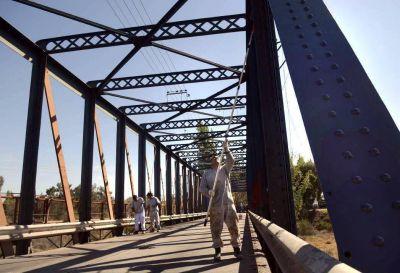 Luján: reabre el Puente de Hierro
