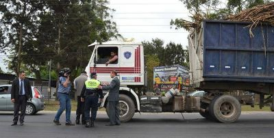 La Secretaría de Transporte reforzó los controles de vehículos cañeros