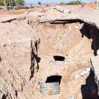 Pluvial de avenida Romero: detectaron nuevas fallas y el trabajo se extender� varios d�as m�s