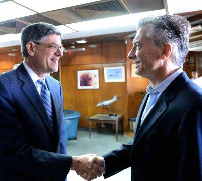 Mauricio Macri recibi� al secretario del Tesoro de los Estados Unidos