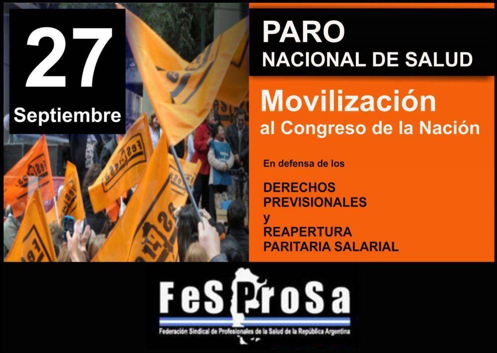 FESPROSA anuncia paro total en cinco provincia y paro parcial en otras siete provincias para el martes 27/09
