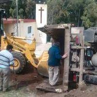 Saavedra: Volcaron un cami�n de recolecci�n de residuos municipal y no fue informado al ejecutivo