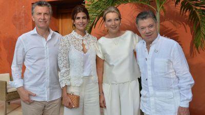 Mauricio Macri participó de la ceremonia en Colombia