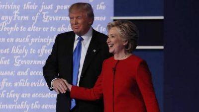 Enfrentamientos y mentiras marcan debate de Clinton y Trump
