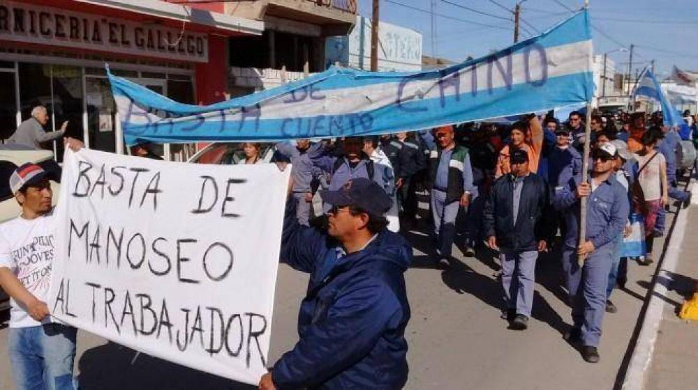 Los mineros se hicieron oír por las calles de Sierra Grande