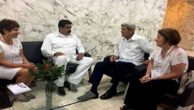 Maduro y Kerry mantienen encuentro formal en Cartagena