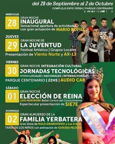 Comienza la 38° edición de la Fiesta Nacional de la Yerba Mate