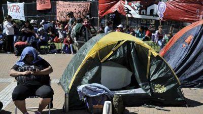 Acampe en Plaza de Mayo:
