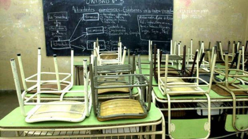 La adhesión local al paro docente rondó el 50 por ciento