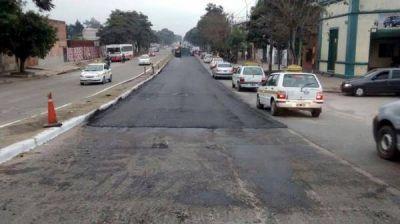 Corte del tránsito por la repavimentación de la avenida Juan B. Justo