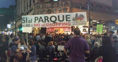 Caballito: vecinos y comerciantes se manifestaron contra el proyecto para construir un shopping