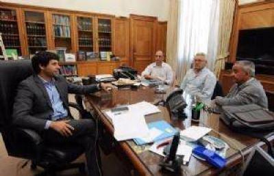 Garc�a De Luca recibi� al secretario de Obras P�blicas Eduardo Alonso