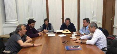 Galli se reunió con funcionarios de Deportes de la Nación