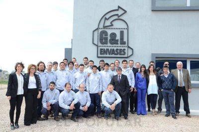 Inauguraron la planta de G&L Envases