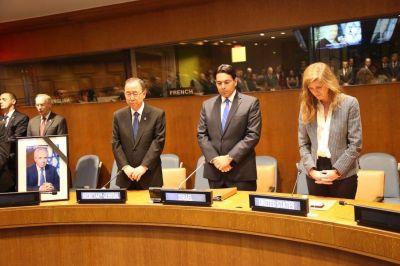 Homenaje a Shimon Peres en la ONU