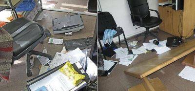 Destrozos y acusaciones cruzadas en Avellaneda