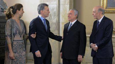 Mauricio Macri recibir� al presidente de Brasil para relanzar v�nculos y fortalecer el Mercosur