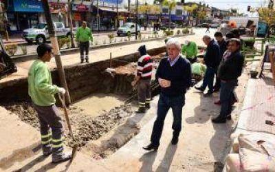 San Fernando: Andreotti supervis� tareas hidr�ulicas y de asfalto
