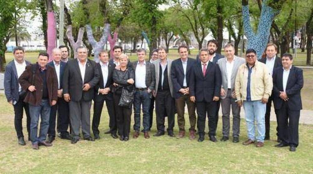 Encuentro de intendentes peronistas en San Martín