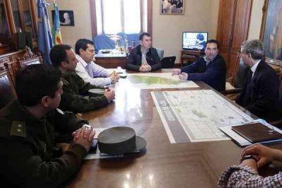 BERTELLYS SE REUNIÓ CON AUTORIDADES DE GENDARMERÍA