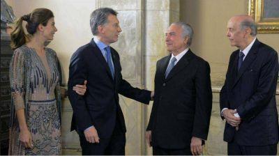 Macri y Temer se reúnen en Olivos con foco en el Mercosur y Venezuela