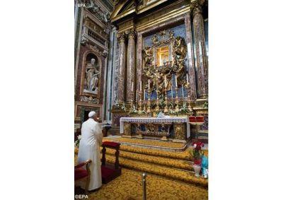 El Papa agradece a la Virgen por su viaje a Georgia y Azerbaiyán