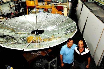 La UNLP probó con éxito el concentrador solar capaz de abastecer de energía a pueblos rurales