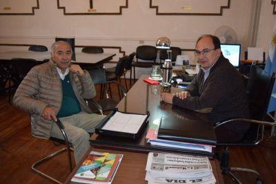 Salom�n se reuni� con el Secretario General del Sindicato de Trabajadores Municipales de Saladillo