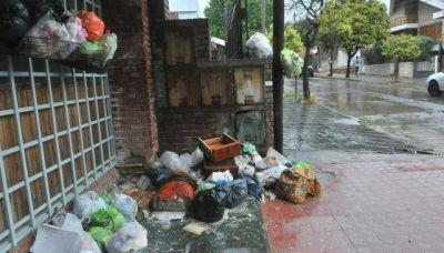 En numerosos sectores de zona sur, llovió sobre la basura de 4 días
