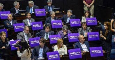 Diputados aprobó la ley de paridad de género en las listas electorales