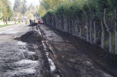 Comenzaron a construir veredas accesibles