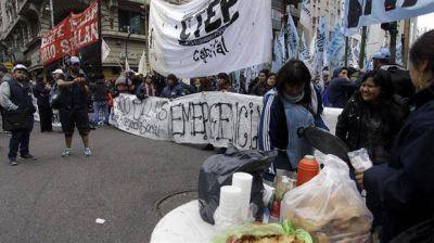 Protesta y piquetes: instalan