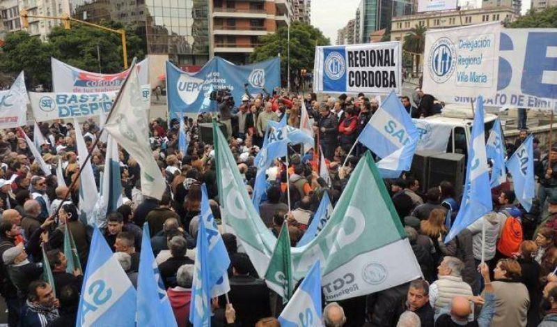 La CGT Córdoba reactiva plan de lucha por apertura de paritarias