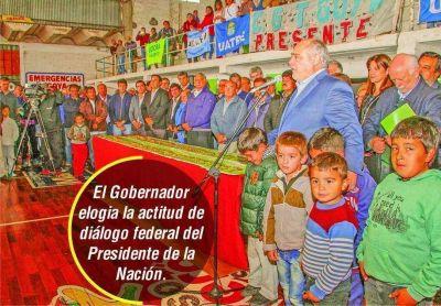Colombi resaltó aporte nacional para las obras de infraestructura