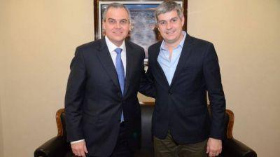 Marcos Pe�a visit� Canal 7 y se reuni� con el Lic. Gustavo Ick