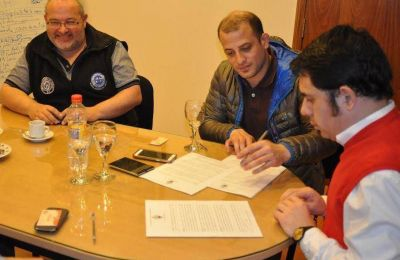 Firman convenio para capacitaciones y formaci�n profesional
