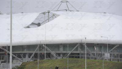 Monumento a la corrupción: el techo del Estadio Único, otra vez en la mira