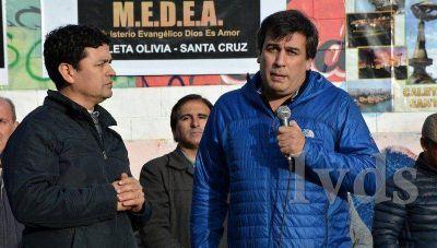 Pastores oraron por Caleta Olivia con la presencia del Intendente Facundo Prades