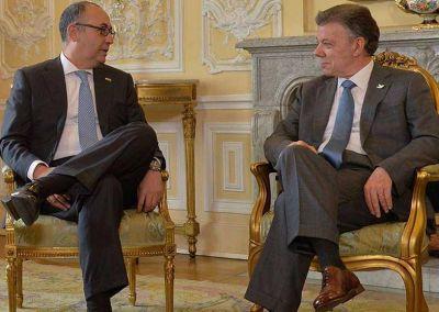 Nobel/Santos. Embajador de Israel en Colombia: �Es una muy buena noticia, que recibimos con satisfacci�n y esperanza�