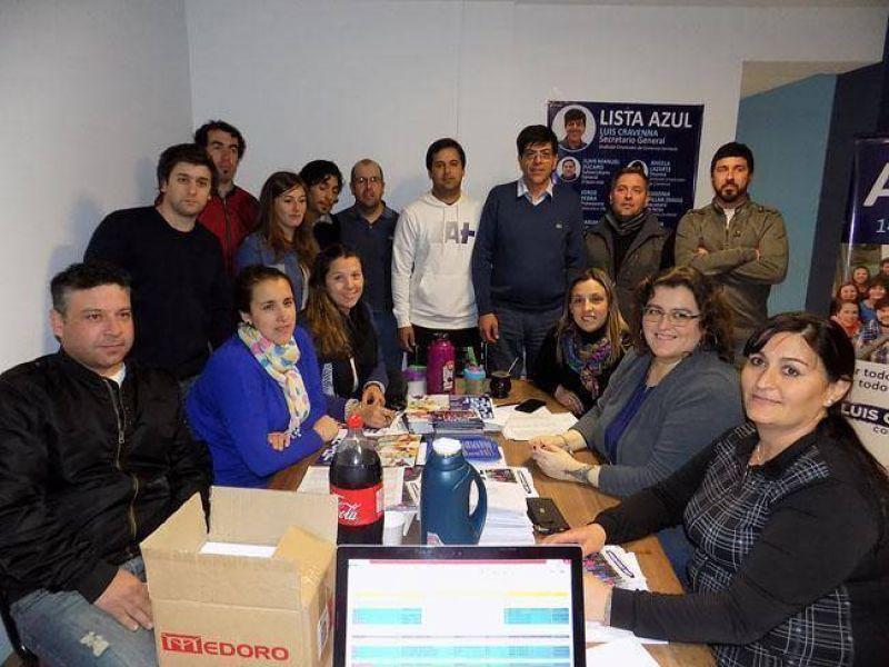 Elecciones en Comercio: la Lista Azul inauguró local
