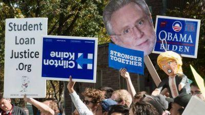 Las encuestas muestran una ca�da del magnate republicano