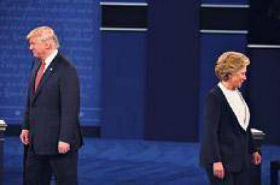 Trump y Clinton en el segundo round