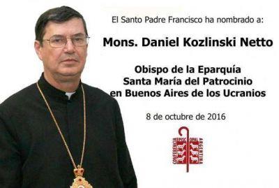 Mons. Daniel Kozlinski Netto, obispo eparca de los ucranianos.