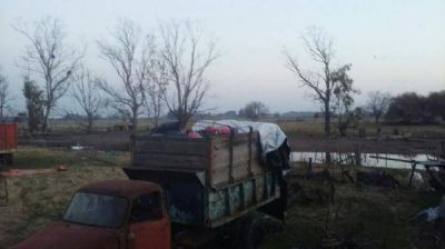 Residuos del Hospital tirados en un campo: gestión Cambiemos, complicada