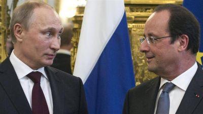 Hollande presiona a Putin y evalúa no recibirlo por el asedio a Aleppo