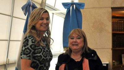 Máxima arrancó su visita al país con agenda recargada: reuniones con Sturzenegger y Malcorra