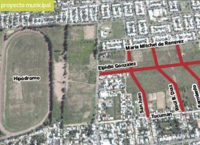 Empieza la obra que extenderá calles en el norte de la ciudad de San Luis