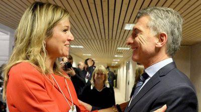 M�xima Zorreguieta se re�ne con Mauricio Macri en Olivos