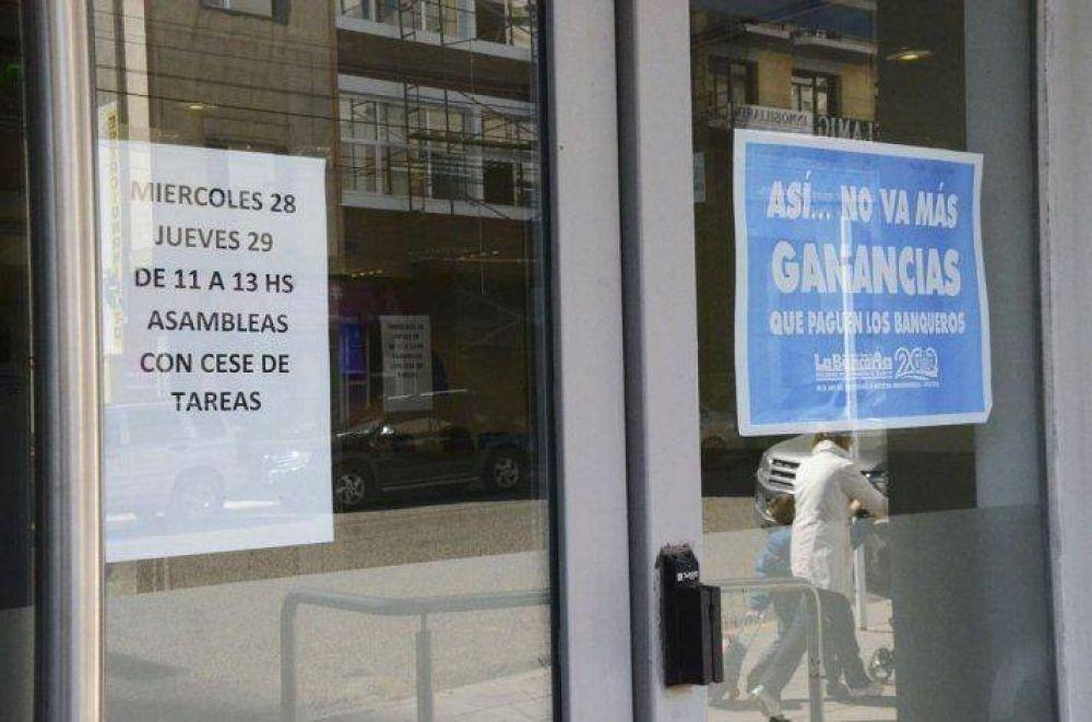 Los bancarios retoman medidas de fuerza la semana próxima