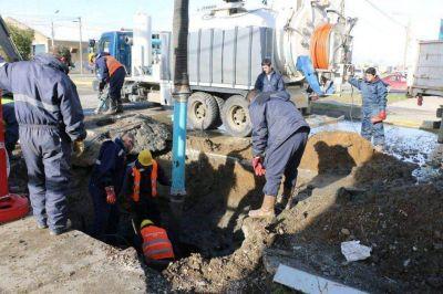 Construcci�n y mantenimiento de cloacas, pluviales y redes de agua